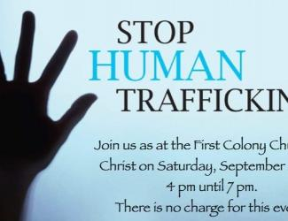 Community meeting to stop human trafficking