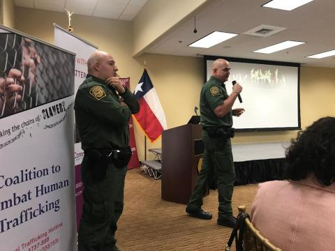 Border Patrol agents share at our Conference in Laredo
