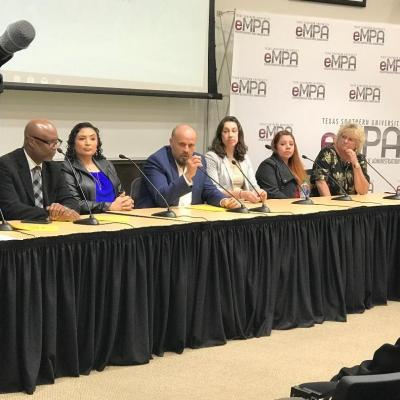 Panelists address attendees questions at TSU's Be the One presentation held on campus