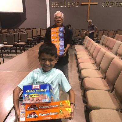 Bethel Ministry helpers included young Jason and his great-grandpa!
