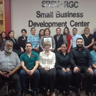 CCHT joins Mayor Ramsey English Cantu, Sul Ross SBDC Director Elizabeth Pena and group to celebrate SMDC Day!