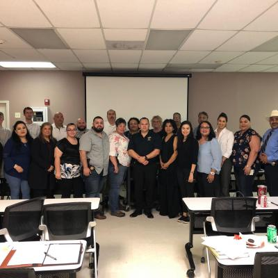 CCHT and other members of the Rio Grande Valley Anti-Human Trafficking Task Force in San Benito, Tx
